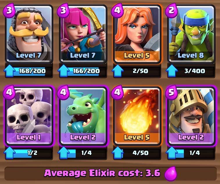 gute deck für arena 8