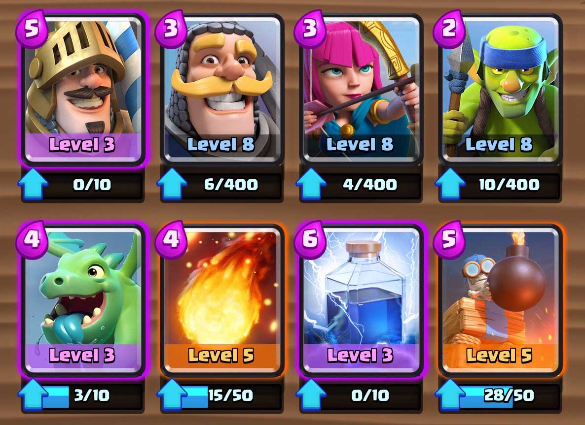 Bone pit cards arena 2 clash royale tactics guide for Deck arene 6 miroir
