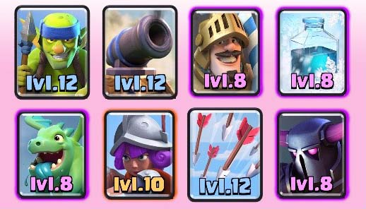 Arena 7 to 8 deck legendary hog freeze clash royale for Deck pekka arene 6