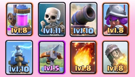 Arena 7 to 8 deck legendary hog freeze clash royale for Deck arc x arene 7