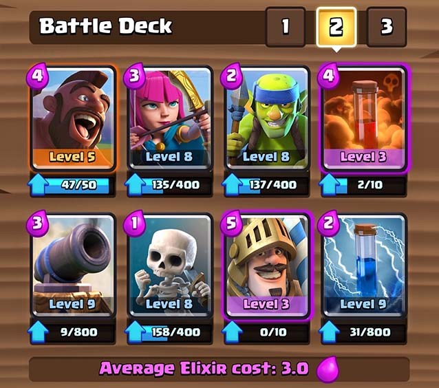 Arena 7 Deck Poison Prince Hog Clash Royale Tactics Guide
