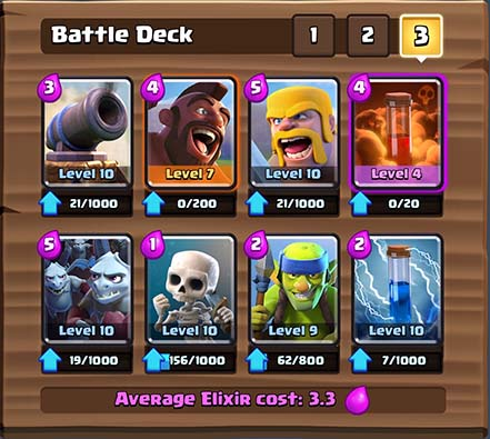 Top Arena 8 Deck Lots Of Common Cards Clash Royale Tactics Guide