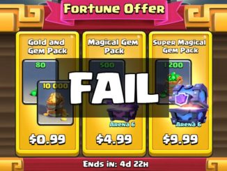 Clash Royale Buying Gem Gold Pack FAIL