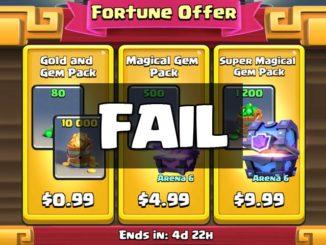 Clash Royale Buying Gem Gold Pack FAIL