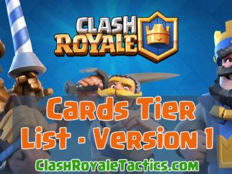 Clash Royale Cards Tournament Tier List - Version 1